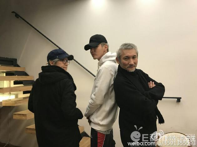 吴亦凡与周星驰徐克合影