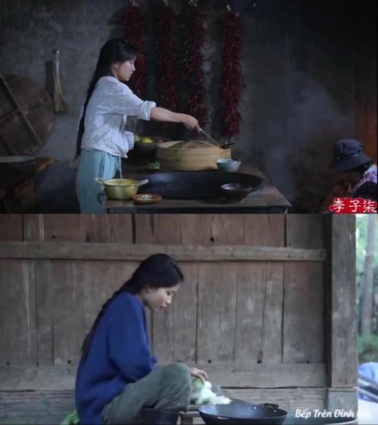 越南博主抄袭李子柒:服装发型如出一辙,连奶奶和狗都山寨